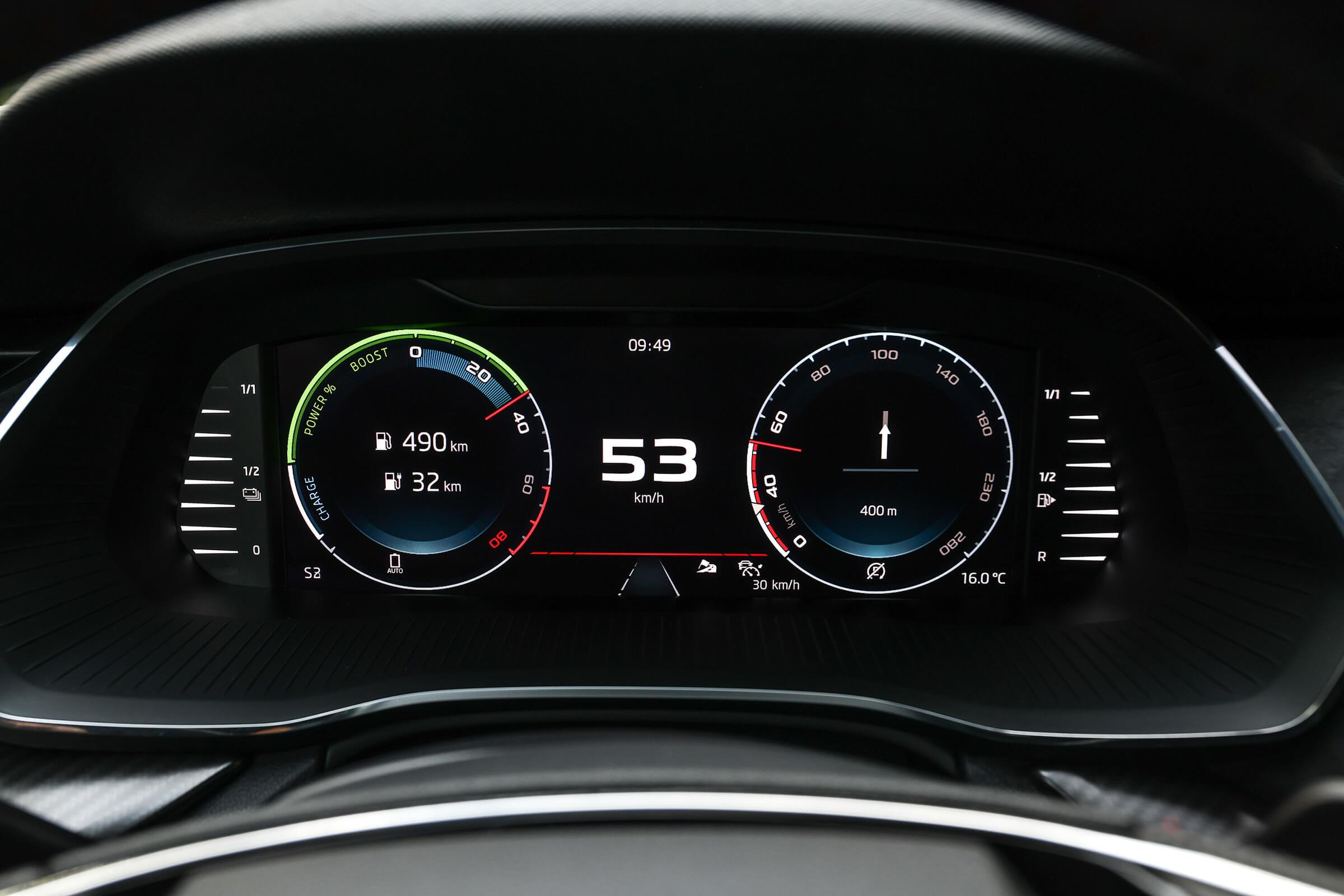 Skoda Octavia RS iV - Κονσόλα