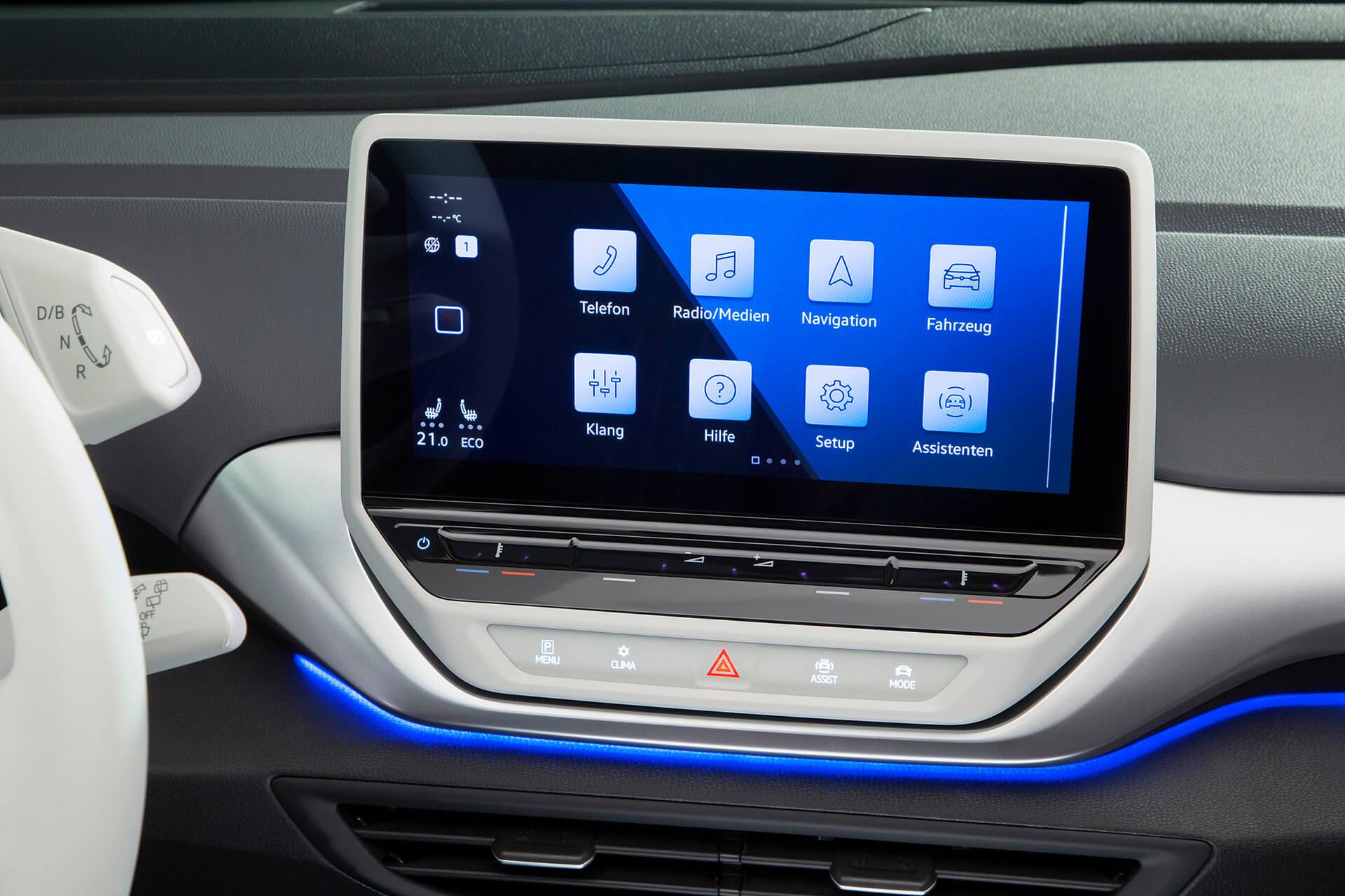 Volkswagen ID.4 1ST και ID.4 1ST Max - Οθόνη αφής