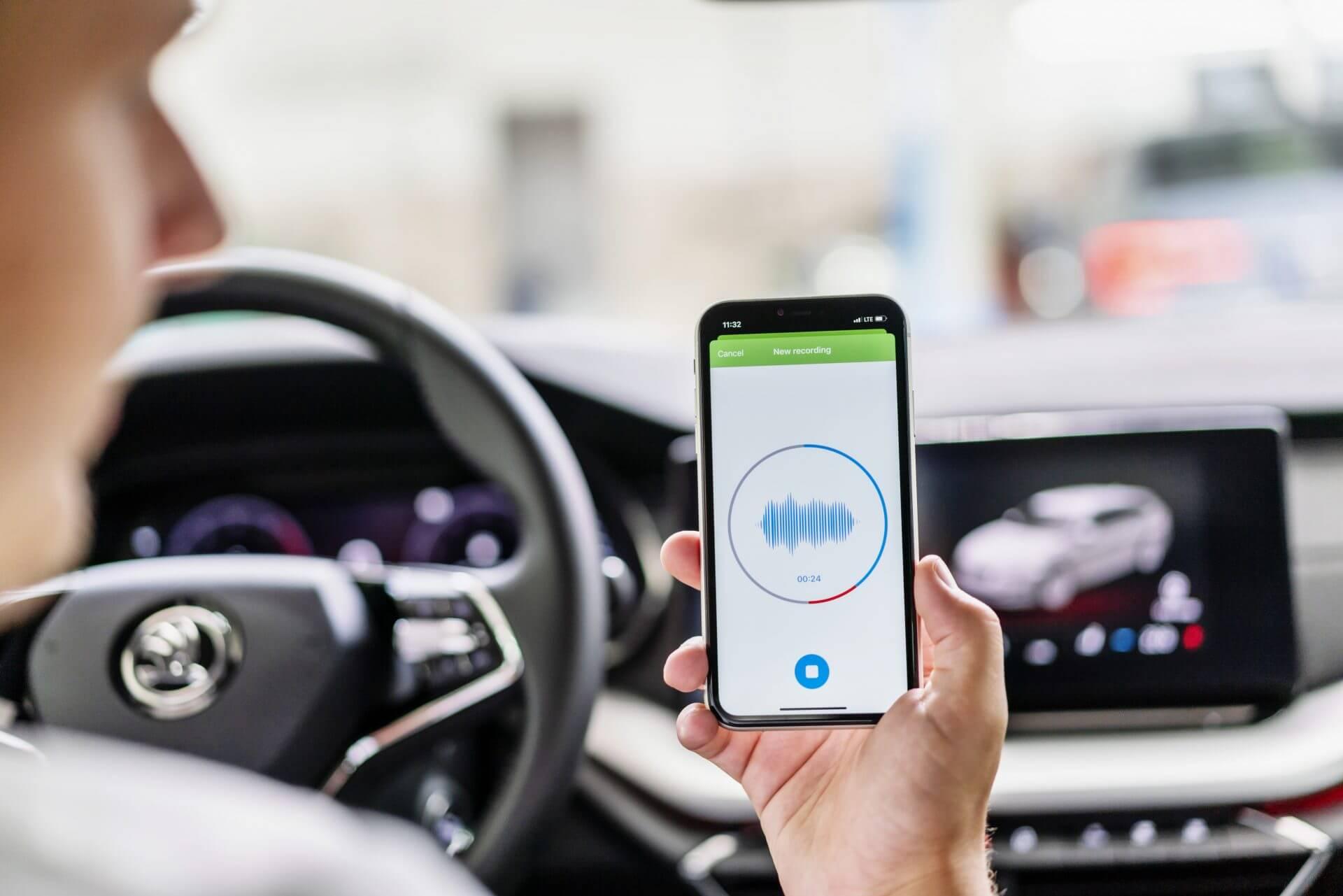 Skoda sound analyzer - Εφαρμογή που χρησιμοποιεί τεχνητή νοημοσύνη (AI) για τον εντοπισμό της απαίτησης για οποιαδήποτε συντήρηση
